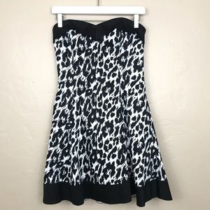 Betsey Johnson Black and White Strapless Dress 8